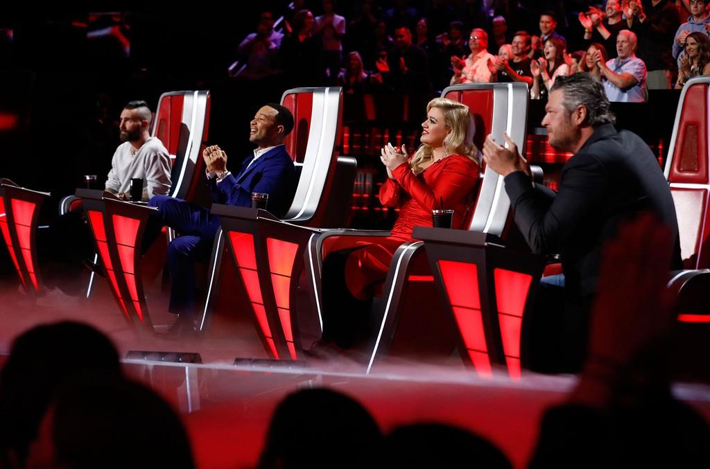 Adam Levine, John Legend, Kelly Clarkson and Blake Shelton