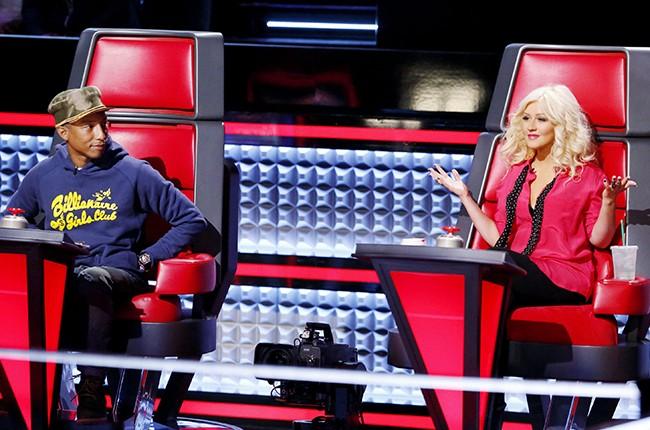 the voice Pharrell Williams, Christina Aguilera