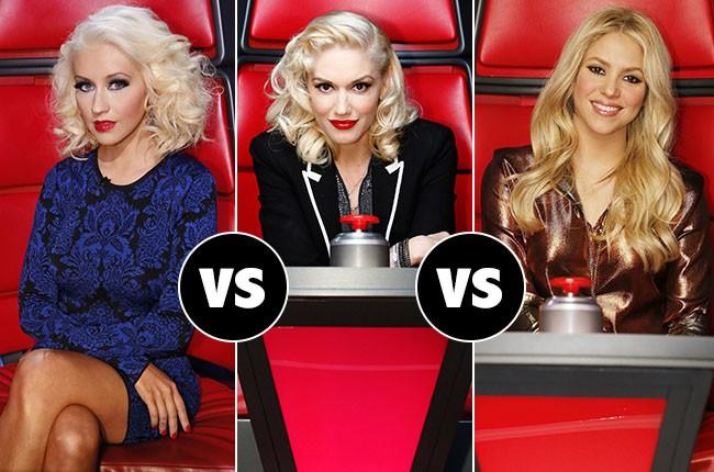 Christina Aguilera, Gwen Stefani, Shakira.