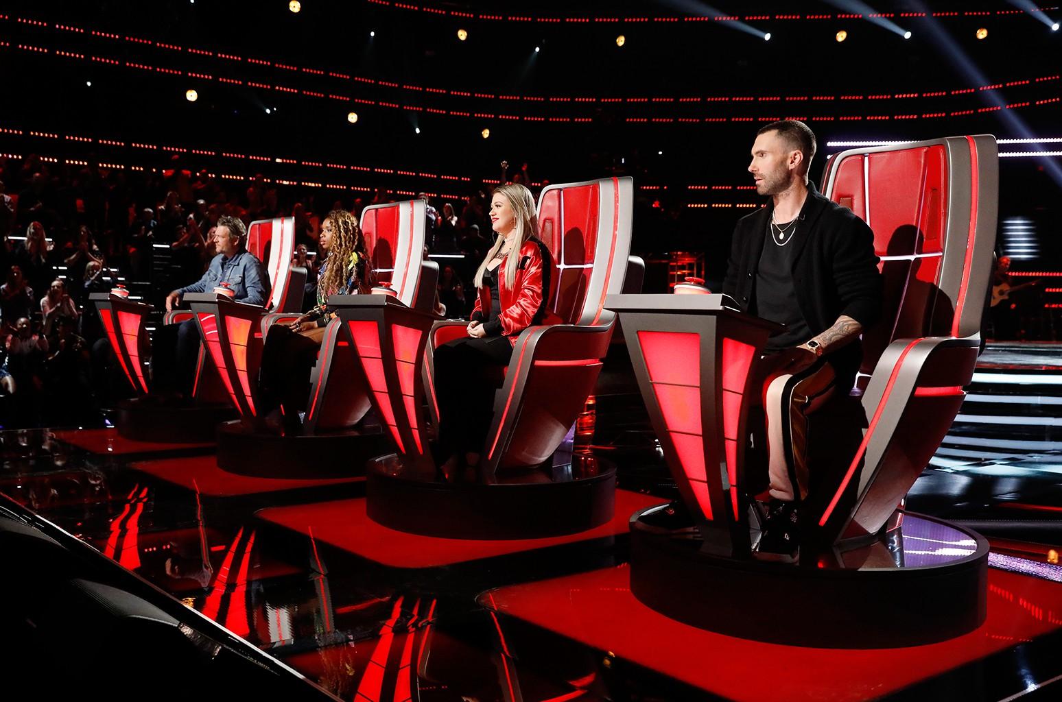 Blake Shelton, Jennifer Hudson, Kelly Clarkson and Adam Levine
