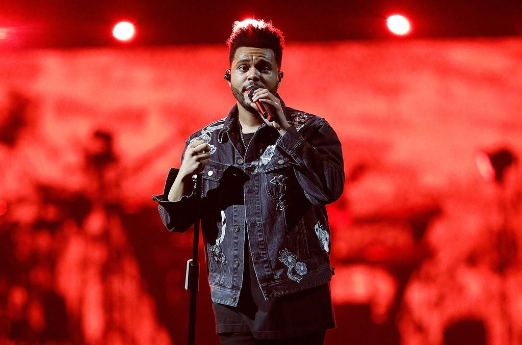 The Weeknd performs at Barclays Center on June 7, 2017 in New York City.