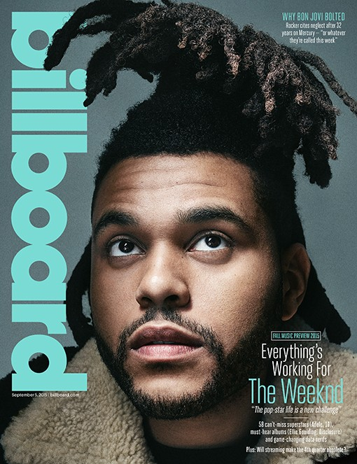 The Weeknd photographed on Aug. 8, 2015 at Ludlow Studios in New York City.