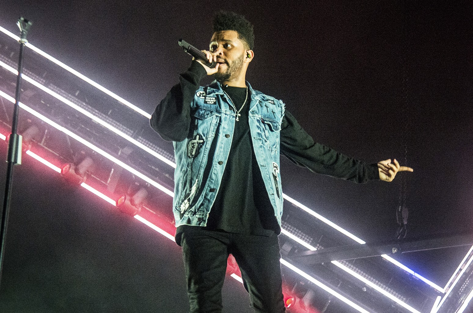 The Weeknd performs at the Bonnaroo Music and Arts Festival on June 11, 2017 in Manchester, Tenn.