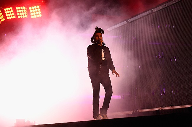 The Weeknd performs during the 2015 Budweiser Made in America Festival
