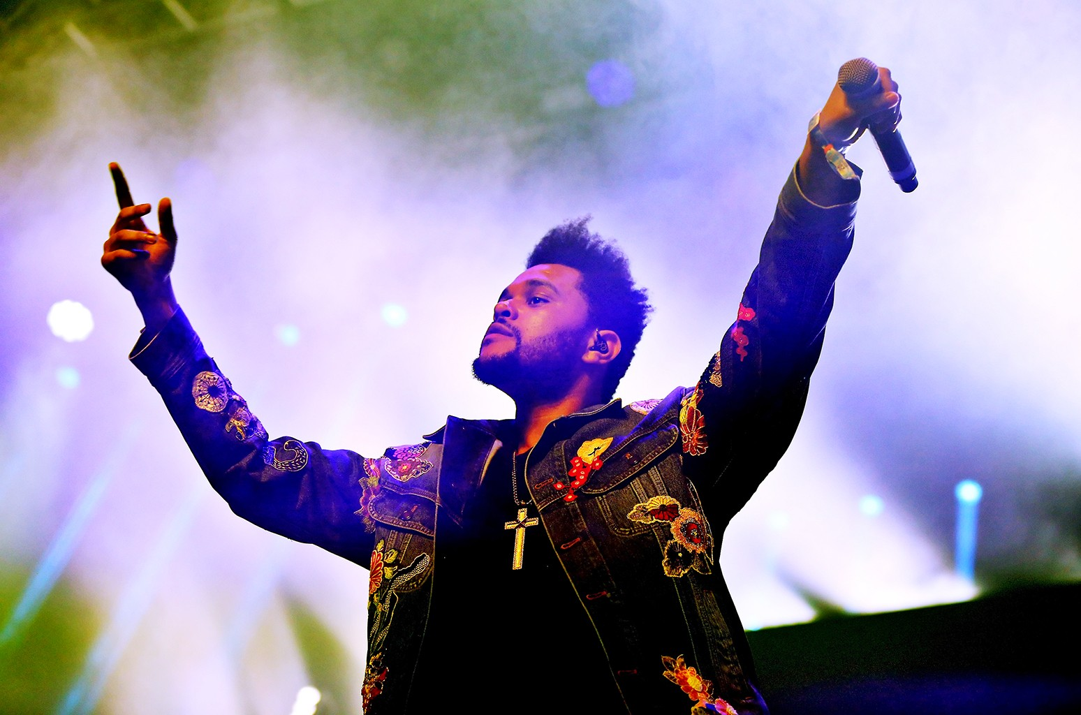 The Weeknd performs onstage at the Gobi tent during day 2 of the Coachella Valley Music And Arts Festival at Empire Polo Club on April 15, 2017 in Indio, Calif.