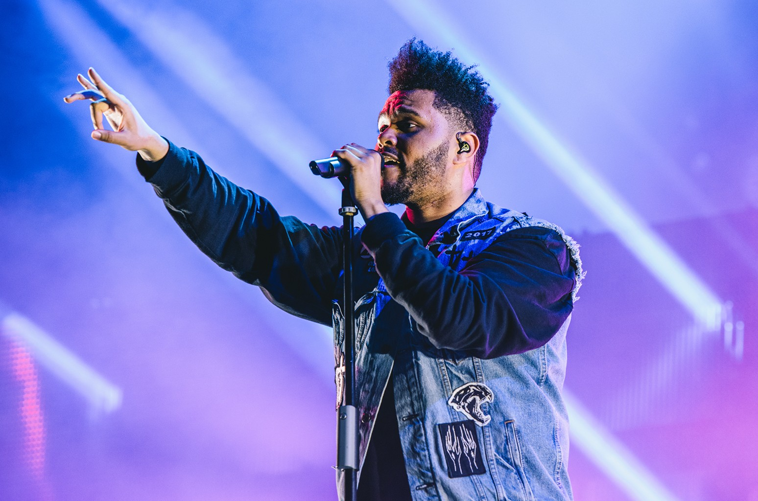 The Weeknd performs live on Day 1 of FIB Festival on July 13, 2017 in Benicassim, Spain.