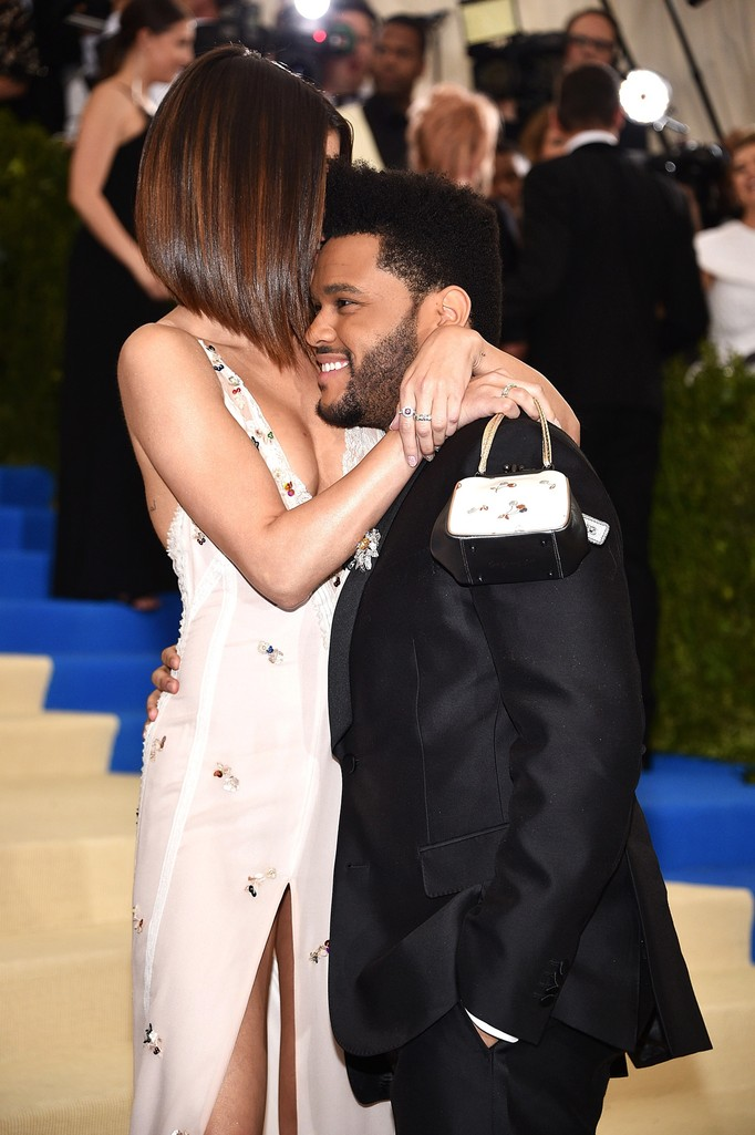 "The Weeknd and Selena Gomez attend the ""Rei Kawakubo/Comme des Garcons: Art Of The In-Between"" Costume Institute Gala at Metropolitan Museum of Art on May 1, 2017 in New York City."