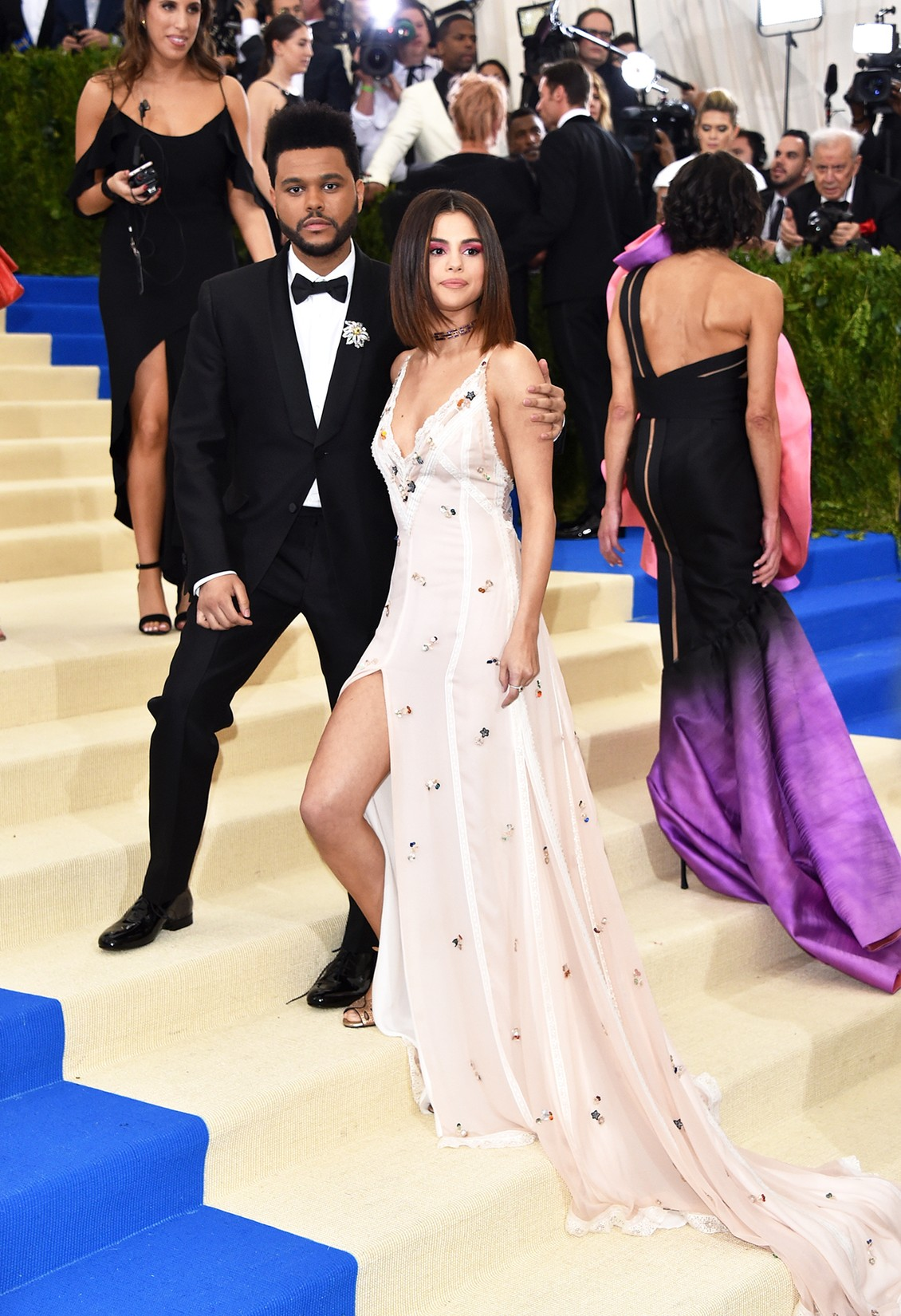 "The Weeknd and Selena Gomez attend ""Rei Kawakubo/Comme des Garcons: Art Of The In-Between"" Costume Institute Gala at Metropolitan Museum of Art on May 1, 2017 in New York City."