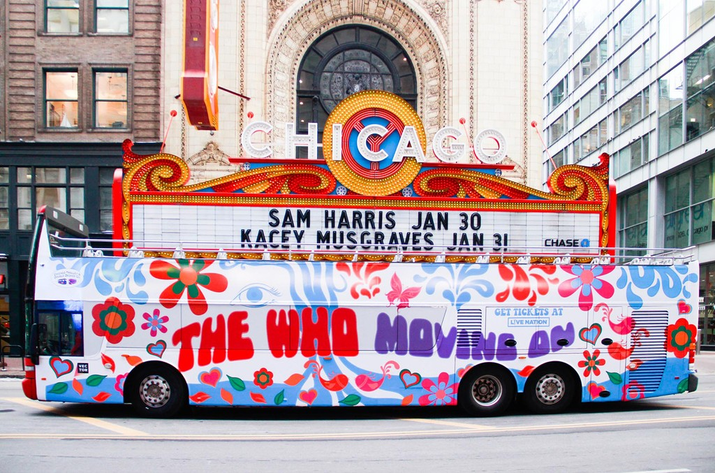The Who bus in Chicago.