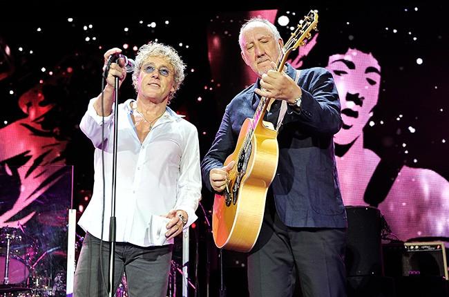 The Who Roger Daltrey White  Guitar Pick tour The Who 5oth Anniv