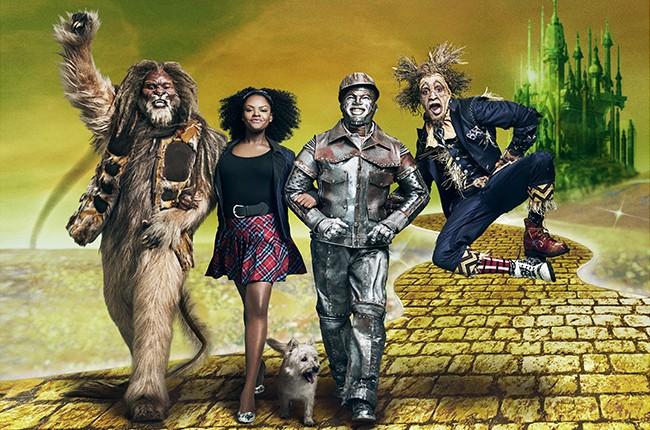 David Alan Grier as Lion, Shanice Williams as Dorothy, Ne-Yo as Tinman, Elijah Kelly as Scarecrow in NBC's The Wiz Live!