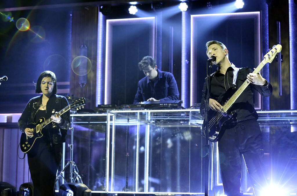 The xx perform on The Tonight Show Starring Jimmy Fallon on Jan. 17, 2017.