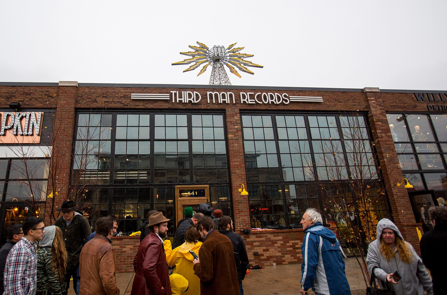 General view of Third Man Records during the grand opening in Detroit on Nov. 27, 2015 in Detroit, Michigan.