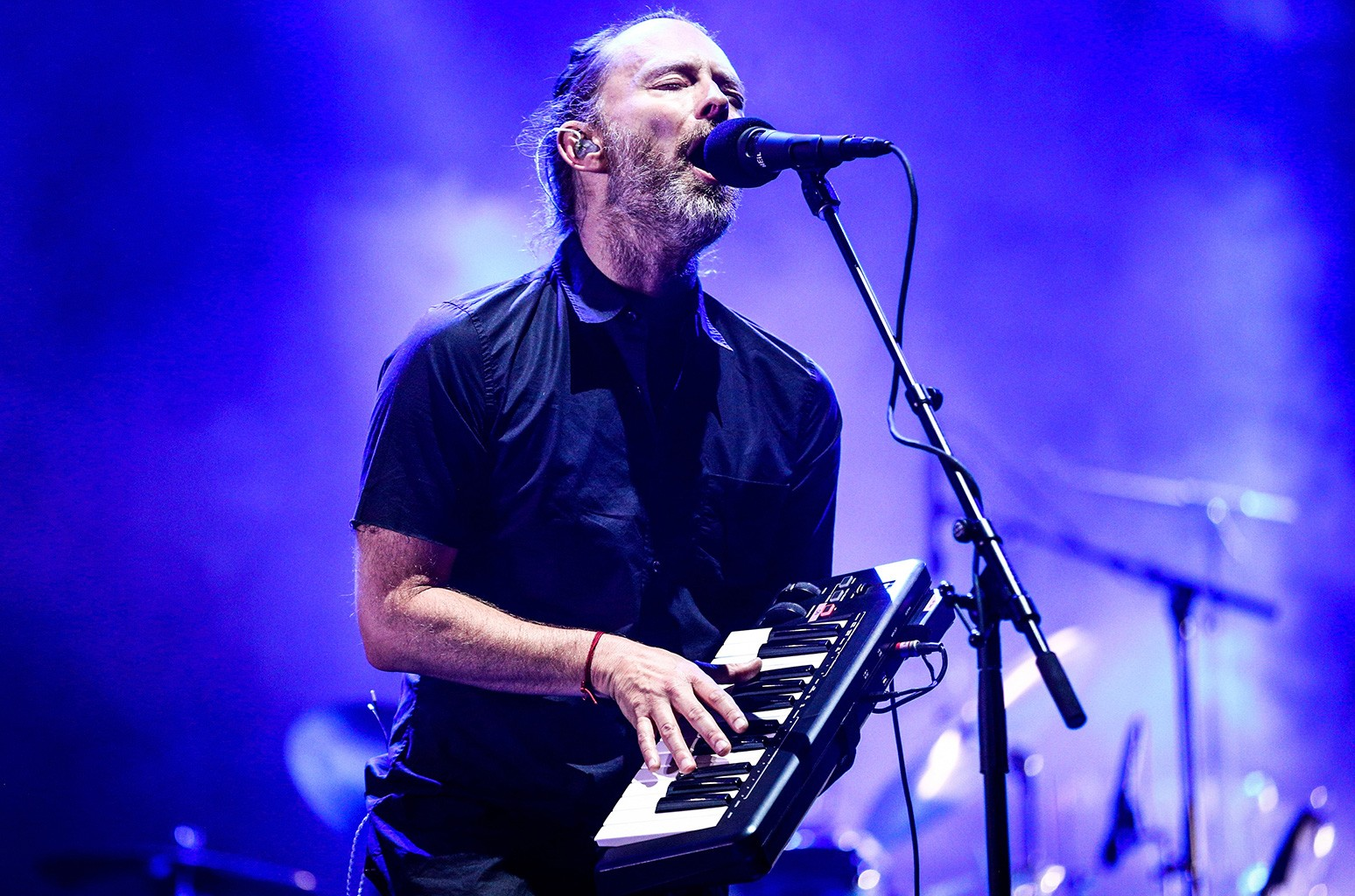 Thom Yorke of Radiohead performs on the Coachella Stage during day 1 of the 2017 Coachella Valley Music & Arts Festival (Weekend 2) at the Empire Polo Club on April 21, 2017 in Indio, Calif.