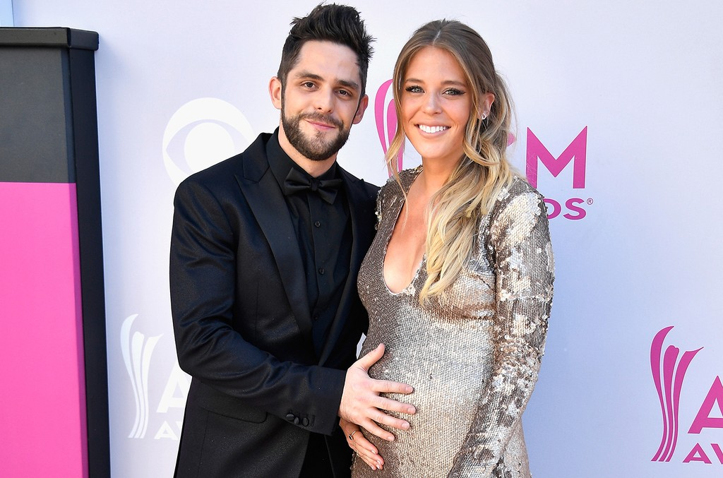 Thomas Rhett and Lauren Gregory Akins attend the 52nd Academy Of Country Music Awards at Toshiba Plaza on April 2, 2017 in Las Vegas.