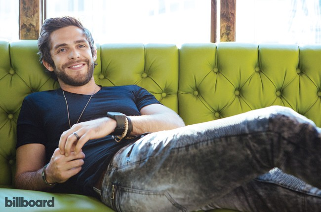 Thomas Rhett photographed on Aug. 12, 2015 at Pub 5 in Nashville.