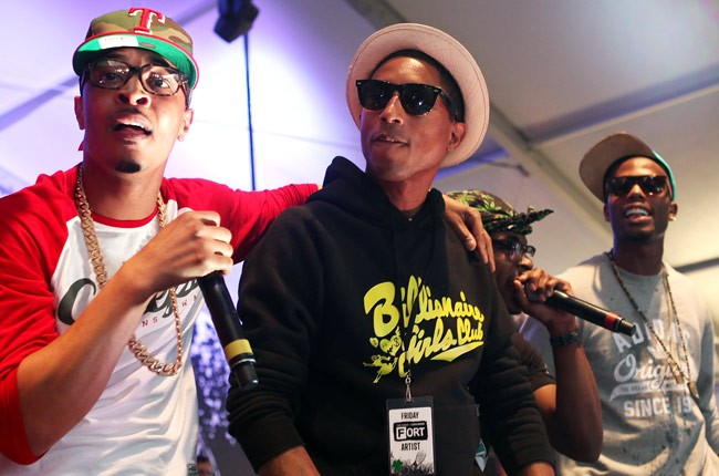 T.I., Pharrell and B.O.B.