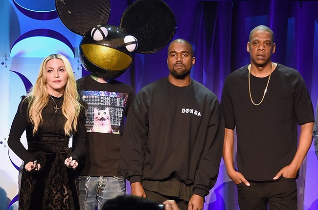 Madonna, Deadmau5, Kanye West, JAY Z at the Tidal launch event #TIDALforALL