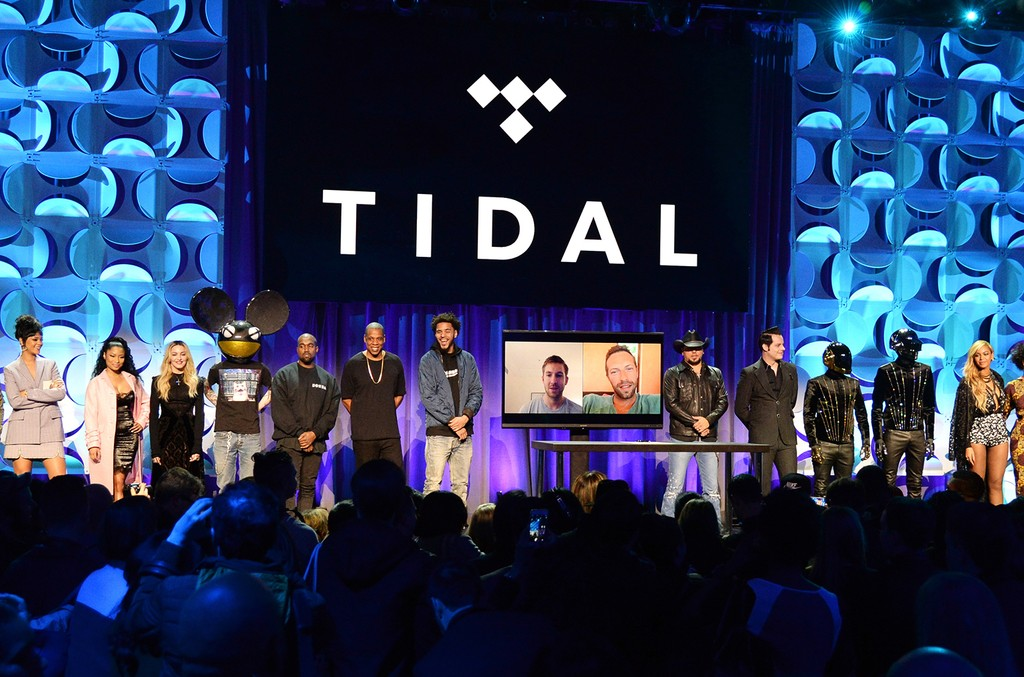 The Tidal launch event at Skylight at Moynihan Station on March 30, 2015 in New York City.