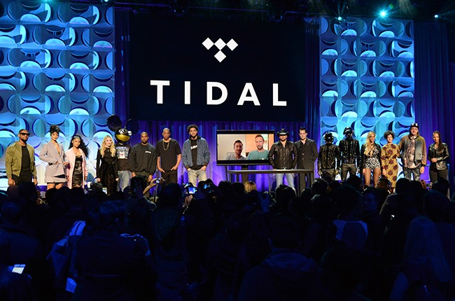Usher, Rihanna, Nicki Minaj, Madonna, Deadmau5, Kanye West, Jay Z, Jason Aldean, Jack White, Daft Punk, Beyonce and Win Butler attend the Tidal launch event #TIDALforALL