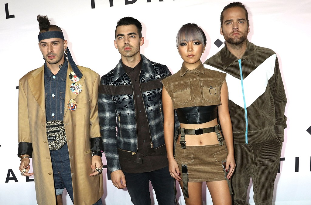 DNCE attends TIDAL X