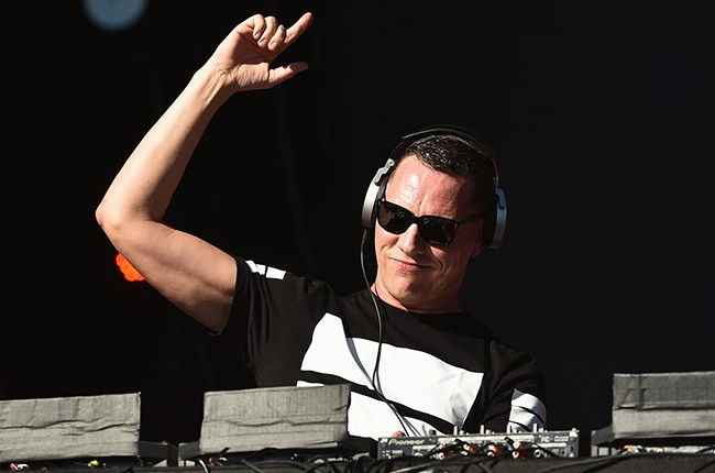 Tiesto performs onstage at the 2014 Global Citizen Festival in Central Park on September 27, 2014 in New York City.