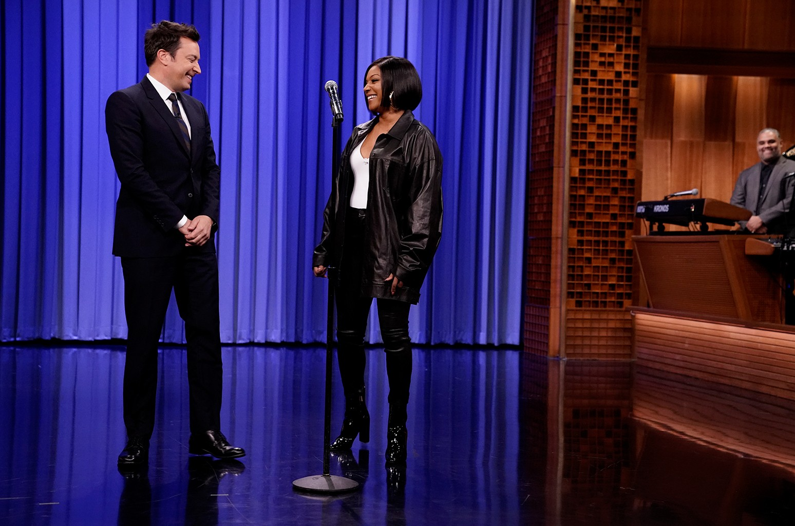 Jimmy Fallon and Tiffany Haddish