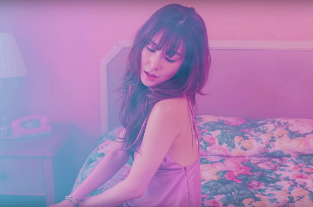 """Tiffany Hwang in the video for """"I Just Wanna Dance."""""""