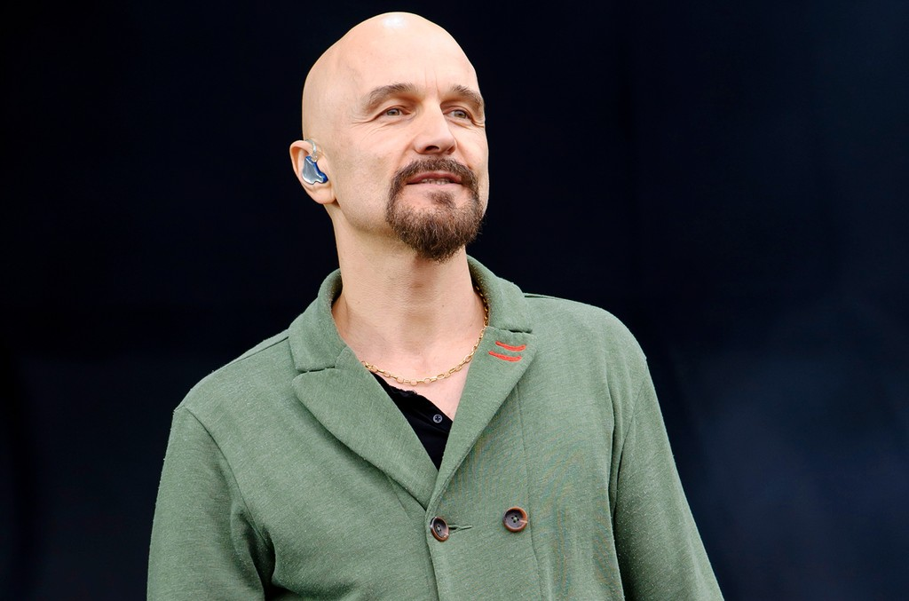 Tim Booth from British band James performs at the V Festival on Aug. 17, 2013 in Chelmsford, England.