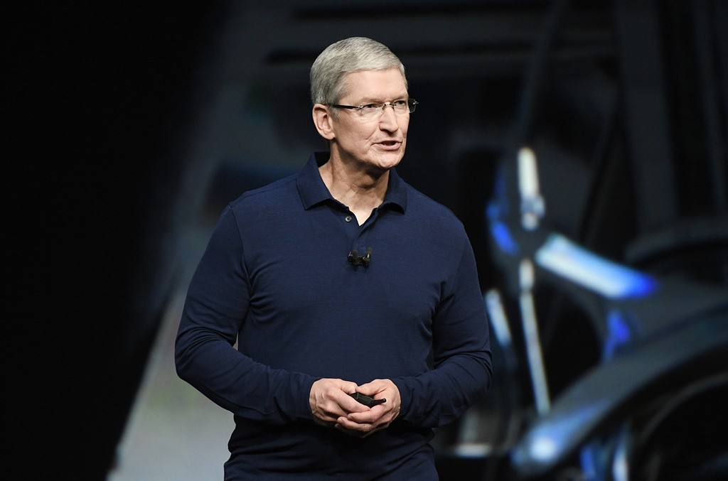 Tim Cook during an Apple Event