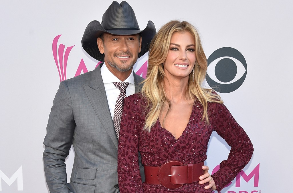 Tim McGraw and Faith Hill attend the 52nd Academy Of Country Music Awards at Toshiba Plaza on April 2, 2017 in Las Vegas.