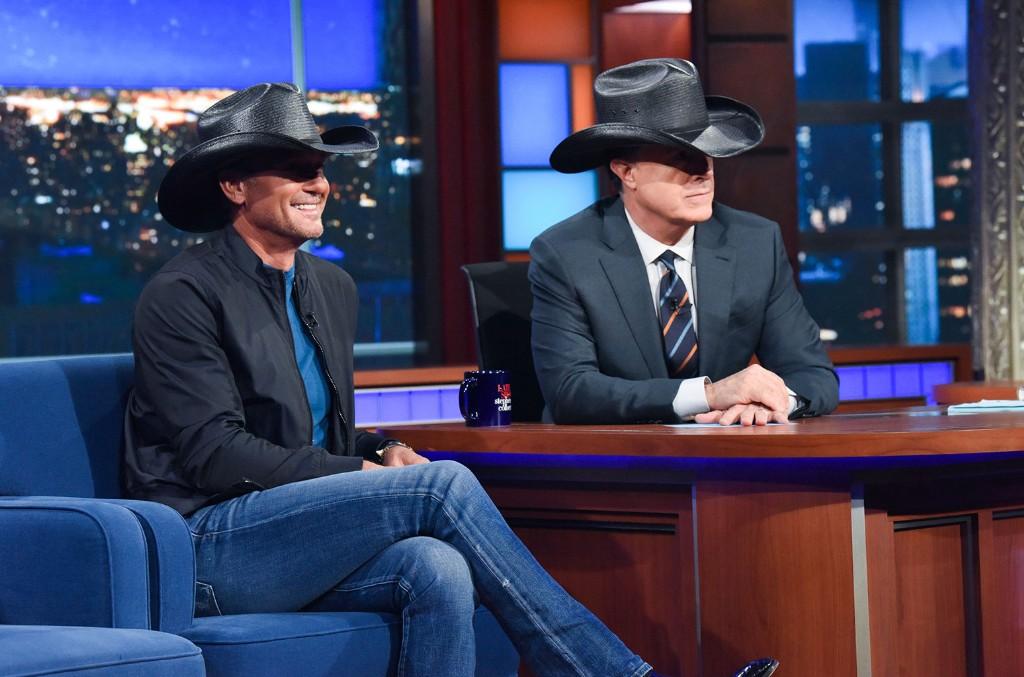 Tim McGraw Stephen Colbert