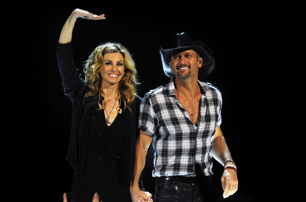 Tim McGraw and Faith Hill perform live in concert at the Rod Laver Arena on March 20, 2012 in Melbourne, Australia.