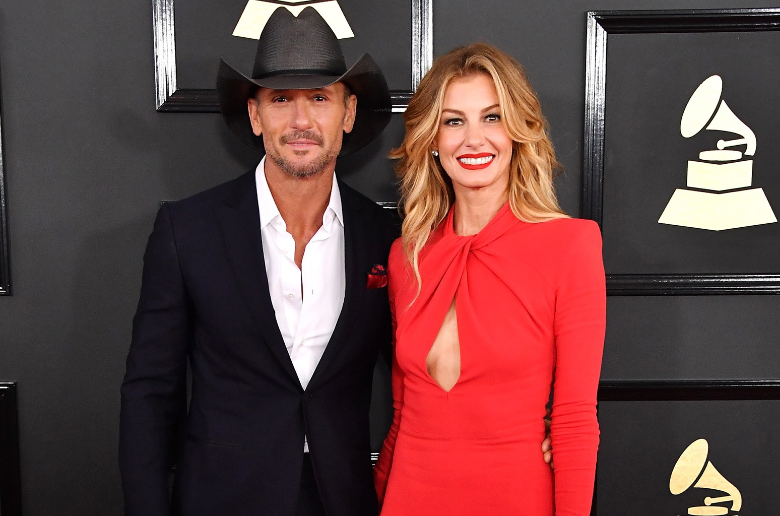 Tim McGraw and Faith Hill attend The 59th Grammy Awards at Staples Center on Feb. 12, 2017 in Los Angeles.