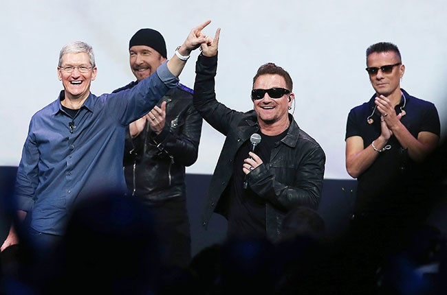 Tim Cook and U2, 2014.
