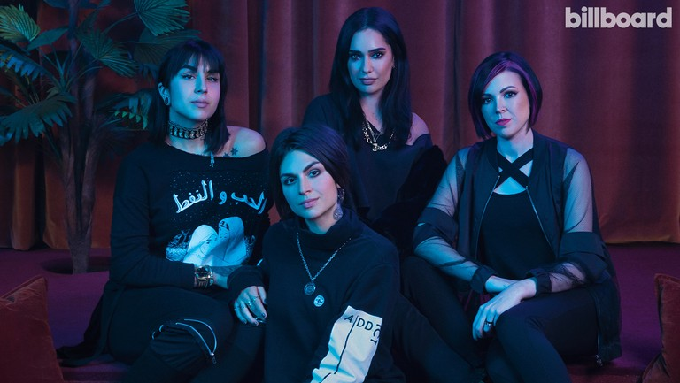 <p>From left: Yasmine and Jahan, KITTENS and Deahl photographed on March 7, 2018 at Kim Sing Theatre in Los Angeles.</p>