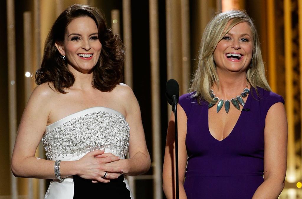 Hosts Tina Fey and Amy Poehler