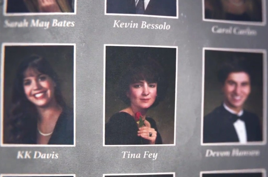 Tina Fey in Honda's celebrity yearbook Super Bowl ad.