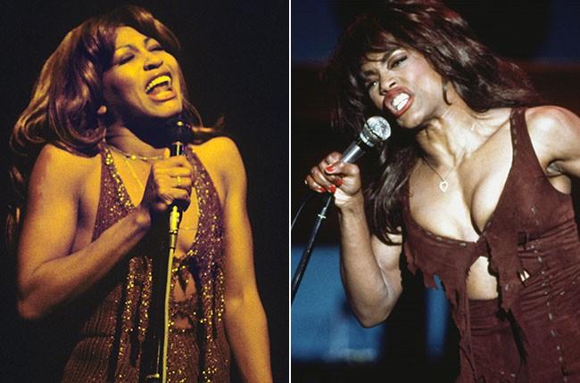 Tina Turner and Angela Bassett as Tina Turner