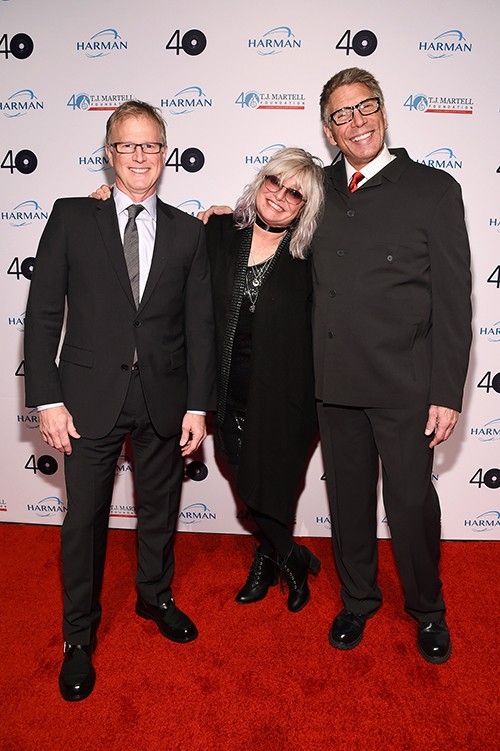 MTV VJ's Alan Hunter, Nina Blackwood, and Mark Goodman