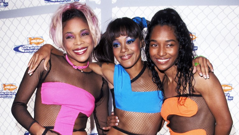 <p>T-Boz, Lisa &quot&#x3B;Left Eye&quot&#x3B; Lopes and Chilli of TLC during Nickelodeon&#39&#x3B;s 12th Annual Kids Choice Awards on May 1, 1999 at UCLA Pauley Pavillion in Westwood, Calif.</p>