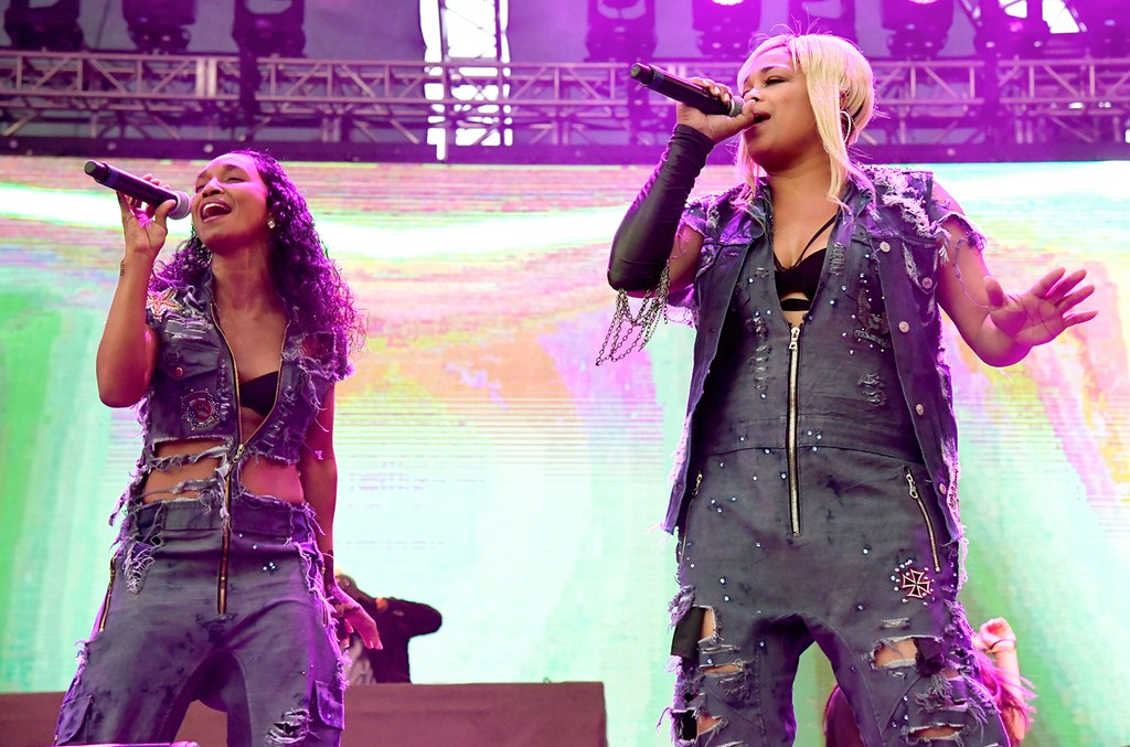 TLC perform at the Beach Goth 2016 at Observatory OC on Oct. 22, 2016 in Santa Ana, Calif.