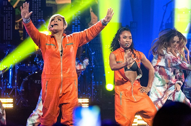 TLC at NYC's Beacon Theater during Super Bowl week, Jan. 30, 2014