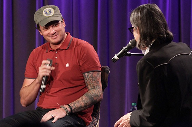 Tom DeLonge speaks with Vice President of the GRAMMY Foundation