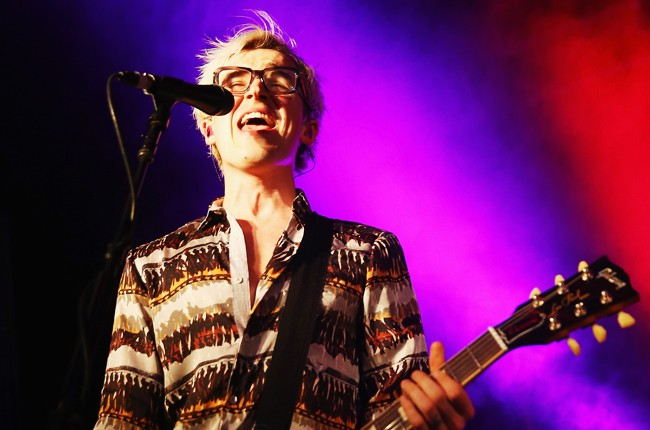 Tom Fletcher of McBusted performs live on stage at Metro Theatre on February 22, 2015 in Sydney