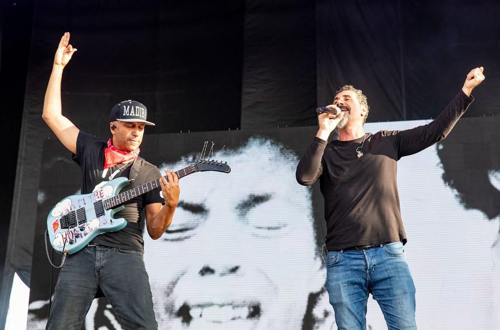 Tom Morello and Serj Tankian of System of a Down