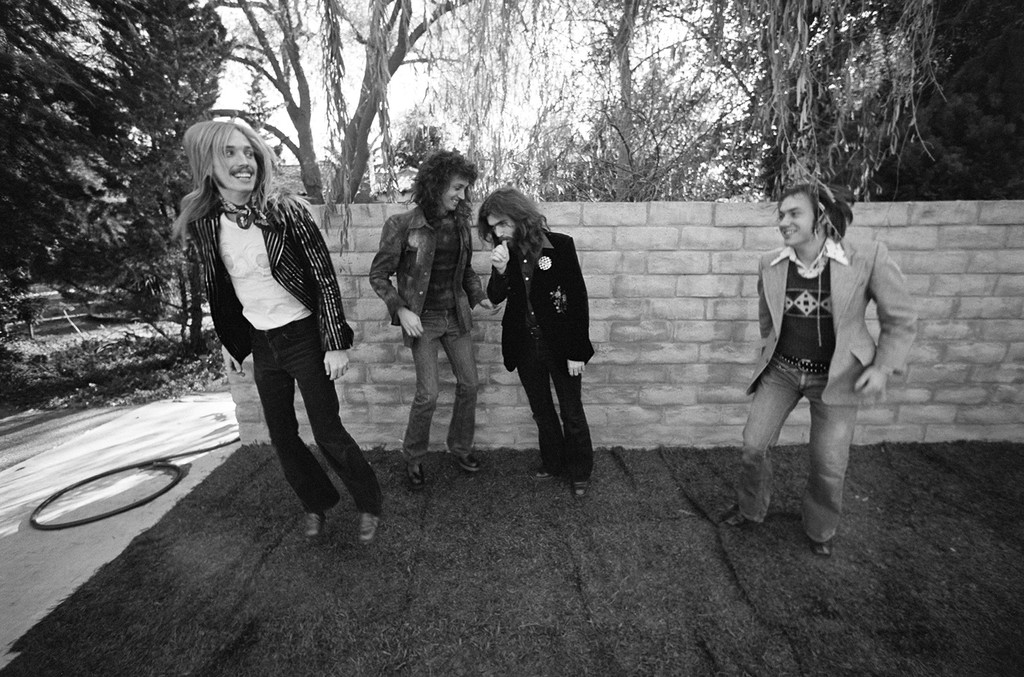 Tom Petty, Mike Campbell, Tom Leadon and Randall Marsh of Mudcrutch, 1974