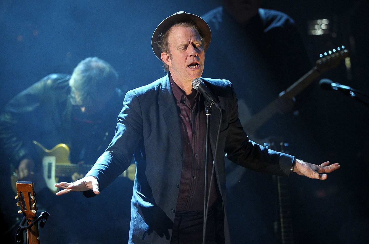 Tom Waits performs