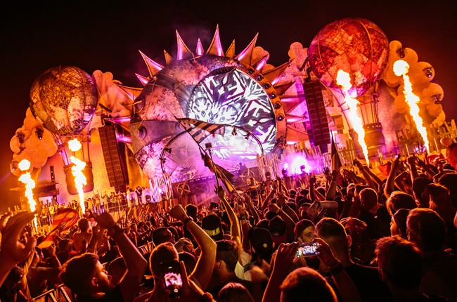A view of one of the stages at Tomorrowland 2015 in Belgium on Friday, July 24, 2015.