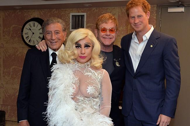 Prince Harry, Elton John, Lady Gaga and Tony Bennett